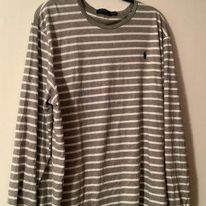 Polo Striped long sleeved tee XXL